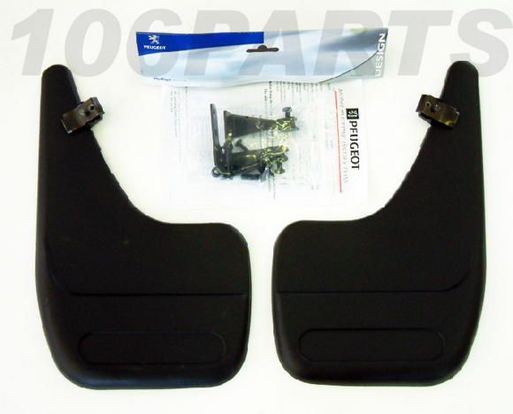 Peugeot 106 Rear Mud Flaps (x2) for S2 with Sport Bumpers GTi RALLYE QUIKSILVER Thumbnail 2