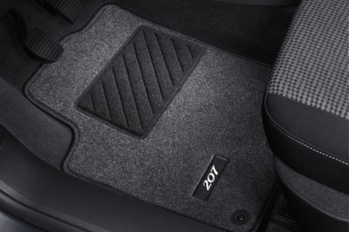 PEUGEOT 207 CARPET MATS GREY [Hatch, SW models] GT GTI RC THP TURBO GENUINE PART Thumbnail 1