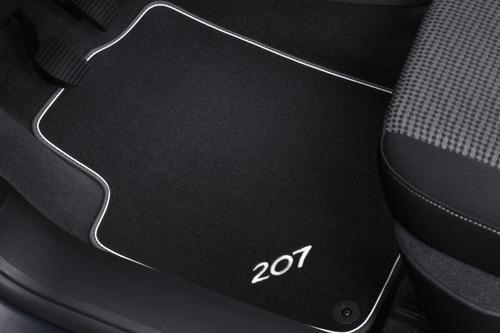 PEUGEOT 207 CARPET MATS METALLIC TRIM [Hatch & SW models] GT GTI RC THP TURBO