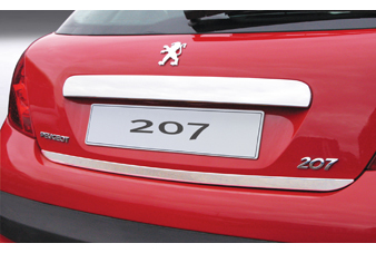PEUGEOT 207 CHROME TAILGATE LIP TRIM [Fits all RESTYLED 207 models]  NEW! Thumbnail 1