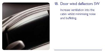 PEUGEOT 307 DOOR WINDOW DEFLECTORS [5dr hatchback, estate] 1.6 2.0 XSI HDI NEW! Thumbnail 1