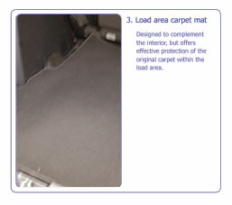 PEUGEOT 4007 LOAD AREA CARPET MAT no SPEAKER [Fits all 4007 models] 2.2 HDI Thumbnail 1
