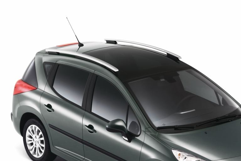 PEUGEOT 207 LONGITUDINAL BARS [ For SW models with Steel roof] SPORTS WAGON NEW!