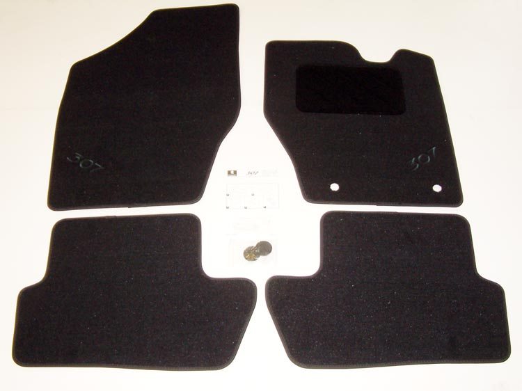 PEUGEOT 307 LUXURY CARPET MATS [Fits all 307 models] 1.6 2.0 16v HDI XSI NEW!