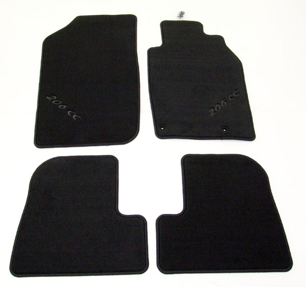 PEUGEOT 206 LUXURY CARPET MATS [CC] COUPE-CABRIOLET GENUINE PEUGEOT ACCESSORY!