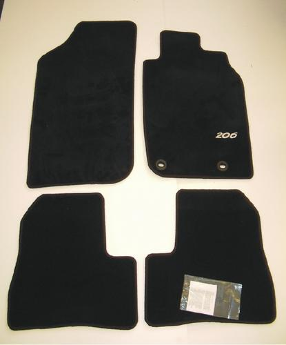 PEUGEOT 206 LUXURY CARPET MATS BLACK [3/5 door hatchback & SW up to Sept 2006] Thumbnail 1