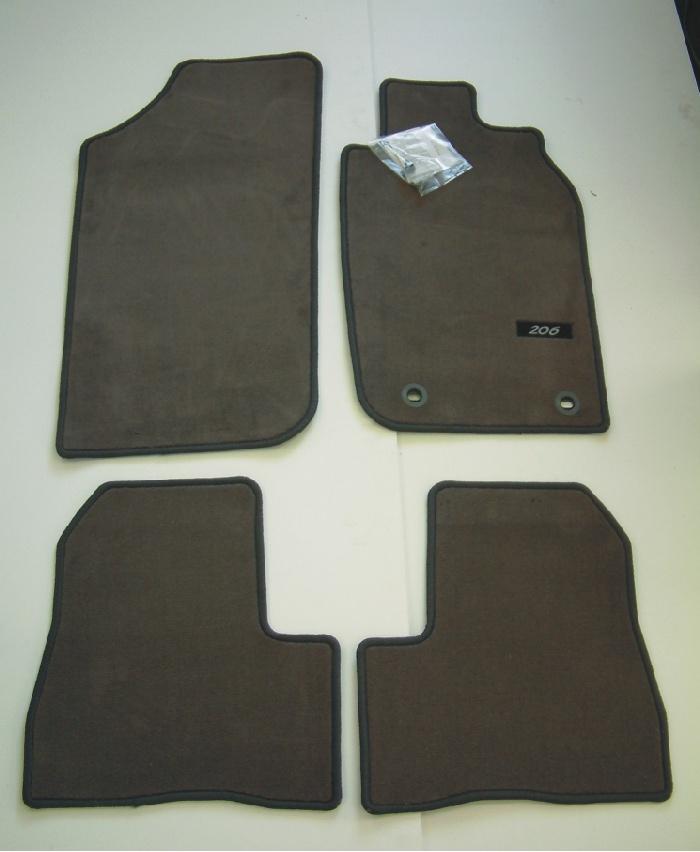 PEUGEOT 206 LUXURY CARPET MATS GREY [3/5 door hatch & SW up to Sept 2006]