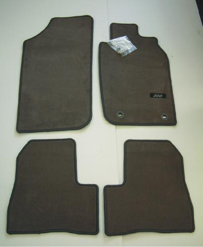 PEUGEOT 206 LUXURY CARPET MATS GREY [3/5 door hatch & SW up to Sept 2006] Thumbnail 1