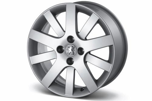 "PEUGEOT 207 MELBOURNE 17"" ALLOY WHEEL WHITE [all 207] GT GTI RC THP TURBO Thumbnail 1"