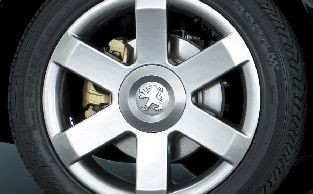 "PEUGEOT 307 MIRAGE CHROME SHADOW 17"" ALLOY WHEEL [Fits all 307 models]  NEW! Thumbnail 1"
