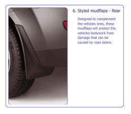 PEUGEOT 4007 MUD FLAPS [Fits all 4007 models] 2.2 HDI GENUINE PEUGEOT ACCESSORY! Thumbnail 1