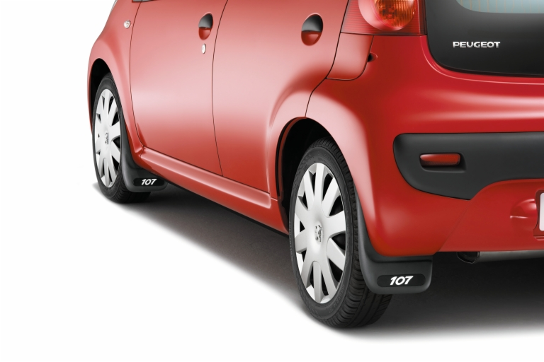 PEUGEOT 107 MUD FLAPS [Fits all 107 models] 1.0 1.4 HDi GENUINE PEUGEOT PART!
