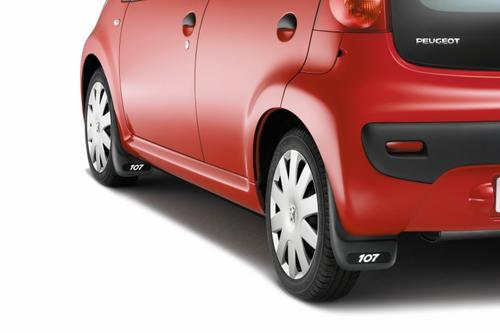 PEUGEOT 107 MUD FLAPS [Fits all 107 models] 1.0 1.4 HDi GENUINE PEUGEOT PART! Thumbnail 1