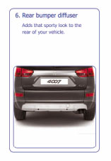 PEUGEOT 4007 REAR BUMPER DIFFUSER [Fits all 4007 models] 2.2 HDI GENUINE PEUGEOT Thumbnail 1