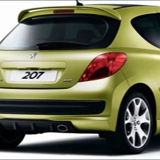 PEUGEOT 207 REAR DIFFUSER for SPORTS BUMPER [all RESTYLED 207 ] GT GTI Thumbnail 1