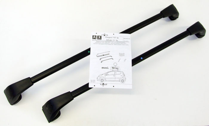 PEUGEOT 107 ROOF BARS [All 5 door 107 models] 1.0 1.4 HDi GENUINE PEUGEOT PART!