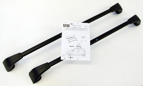 PEUGEOT 107 ROOF BARS [All 5 door 107 models] 1.0 1.4 HDi GENUINE PEUGEOT PART! Thumbnail 1