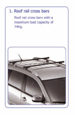 PEUGEOT 4007 ROOF RAIL CROSS BARS [Fits all 4007 models] 2.2 HDI GENUINE PEUGEOT