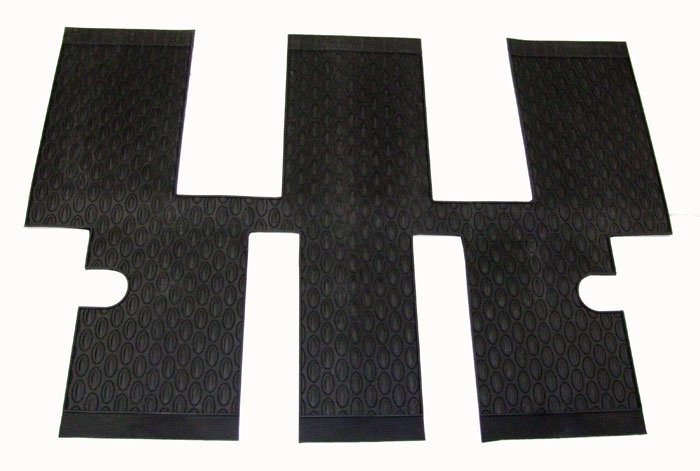 PEUGEOT 807 RUBBER MATS ROW 3 AREA [Not suitable for 6 seat executive SE] MPV