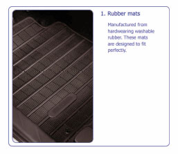 PEUGEOT 4007 RUBBER MATS [Fits all 4007 models] 2.2 HDI GENUINE PEUGEOT PART! Thumbnail 1