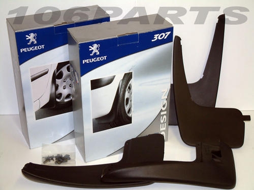 PEUGEOT 307 STYLED MUD FLAP SET [3dr & 5dr hatchback] 1.6 2.0 XSI HDI NEW! Thumbnail 1