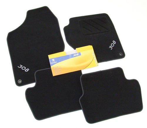 PEUGEOT 308 VELOUR CARPET MAT SET BLACK [Hatch and SW] 1.6 2.0 PETROL & DIESEL Thumbnail 1