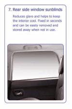 PEUGEOT 4007 REAR SIDE WINDOW SUN BLINDS [Fits all 4007 models] 2.2 HDI NEW!
