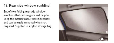 PEUGEOT 308 WINDOW SUN BLINDS [5 door hatchback] 1.6 2.0 PETROL & DIESEL NEW! Thumbnail 1