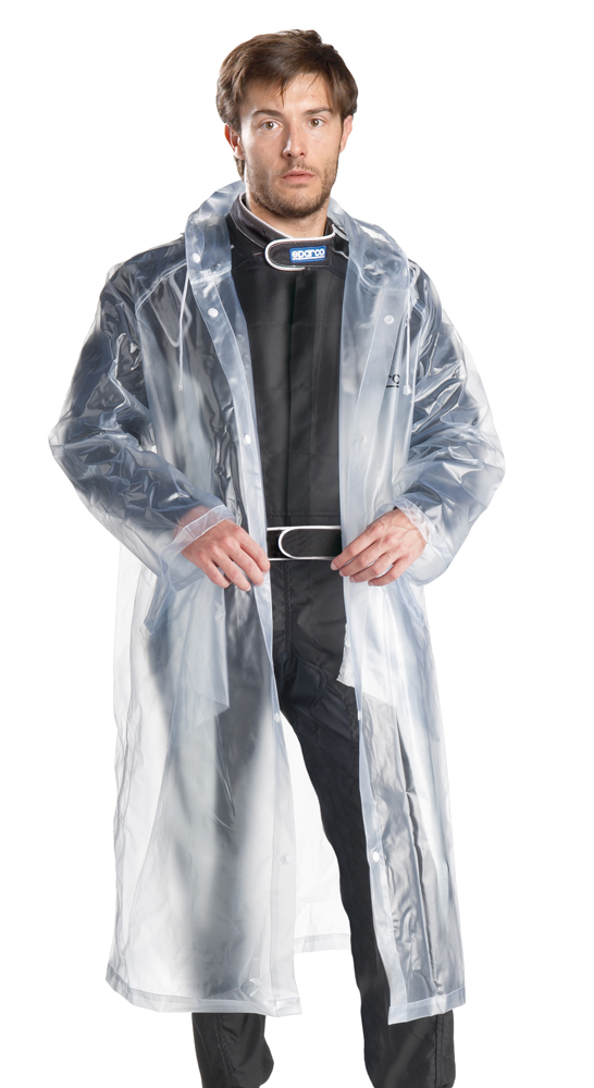 Sparco Karting Rain Suit Waterproof Clear Plastic Suit To