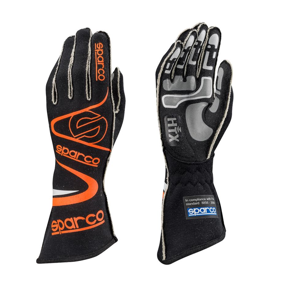 001352A SPARCO ARROW RG-7 RACING RALLY FIREPROOF DRIVING GLOVES PRE-FORMED FIA
