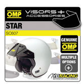 SC607 OMP STAR HELMET BLACK or WHITE SUN PEAK VISORS - REPLACEMENT OR UPGRADE