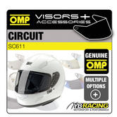 SC611 OMP CIRCUIT HELMET VISORS SMOKED or CLEAR - REPLACEMENT OR UPGRADE VISOR