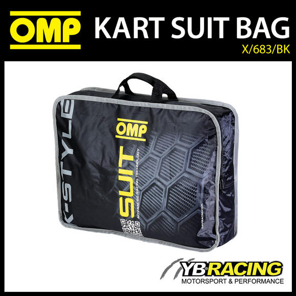 X/683/BK OMP KARTING K-STYLE KART SUIT CARRY BAG IN BLACK - GENUINE OMP BAG