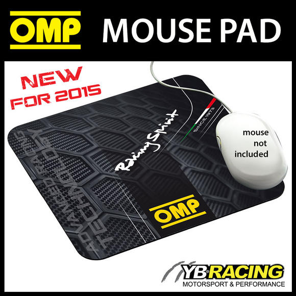 NEW! PR919 OMP RACING SPIRIT DESIGN MOUSEMAT MOUSE PAD BLACK 230x200cm SIZE