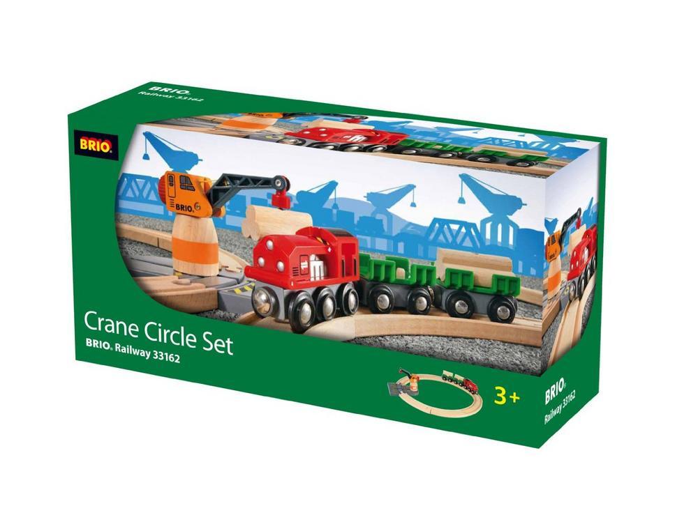 Special Edition 33162s Brio Crane Circle Set Wooden Railway Train