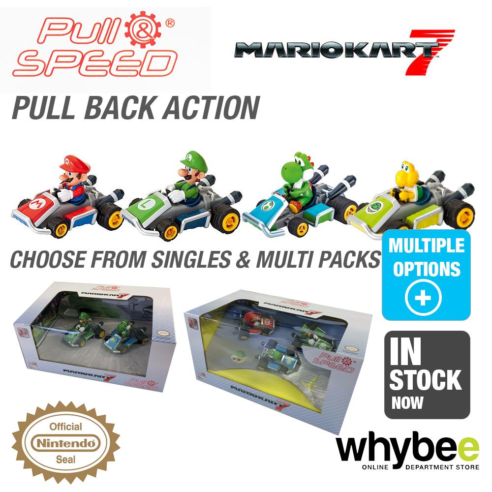 Carrera Pull /& Speed Nintento Mario Kart Mario Collection 3 Pack Racers