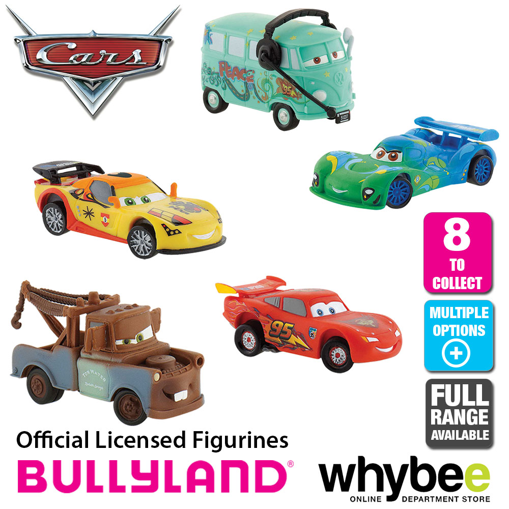 Official Bullyland Disney Cars Figurines 8 Cake Topper Toy Figures To Collect