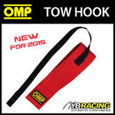 NEW! EB/580 OMP RACING TOW HOOK RED 2 inch ELASTIC CHASSIS STRAPS FIA APPROVED