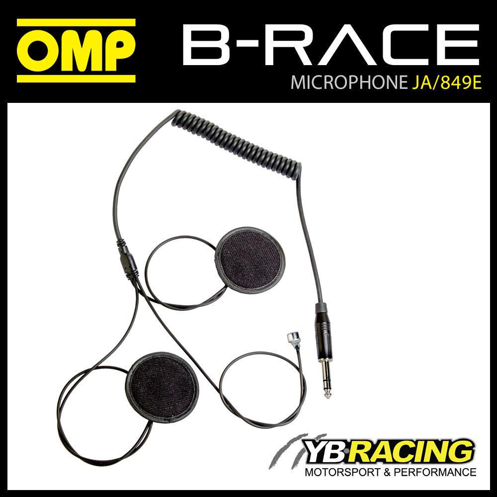 JA/849E OMP B-RACE INTERCOM MICROPHONE KIT FOR 1 HELMET USE WITH OMP JA/874  BOX