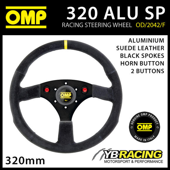 OD/2042F/N OMP 320mm ALUMINIUM STEERING WHEEL SUEDE LEATHER SOLBERG EDITION