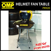 NEW! PR920 OMP RACING HELMET FOLDING TABLE STAND WITH FAN POWER 220V PIT/PADDOCK