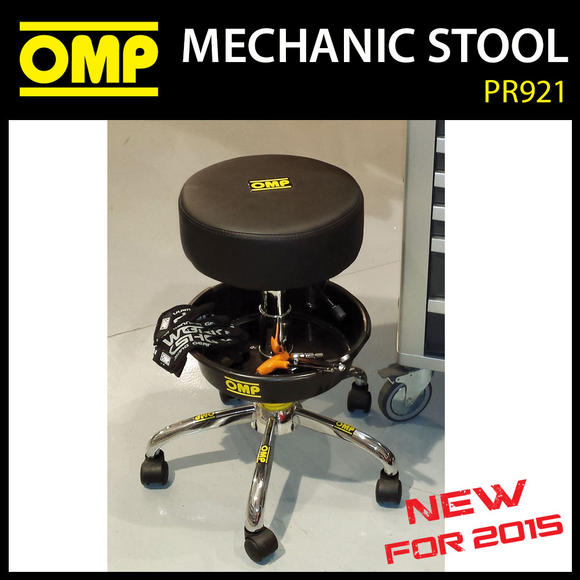 PR921 OMP RACING MECHANIC RACE TEAM PIT STOOL for GARAGE / PITS / MOTORHOME