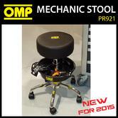 NEW! PR921 OMP RACING MECHANIC RACE TEAM PIT STOOL for GARAGE / PITS / MOTORHOME