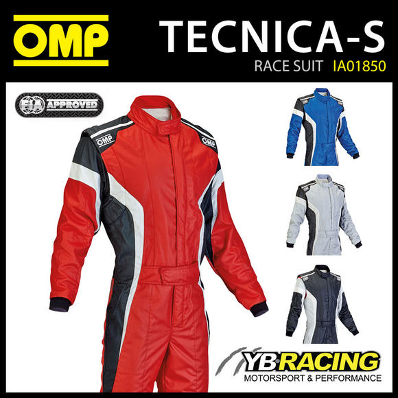 IA01850 OMP TECNICA-S PROFESSIONAL RACE SUIT NOMEX FIREPROOF - 4 COLOURS!