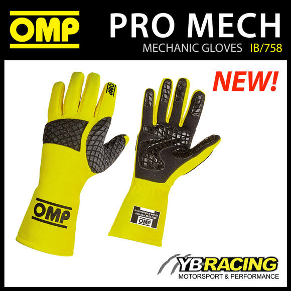 IB/758 OMP PRO-MEC MECHANIC PIT CREW GLOVES