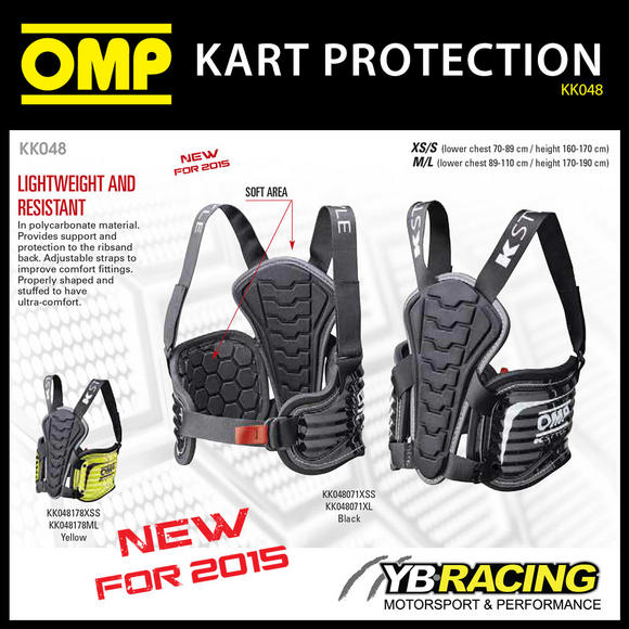 KK048 OMP KARTING KS BODY PROTECTION (RIB PROTECTOR) for KART DRIVERS