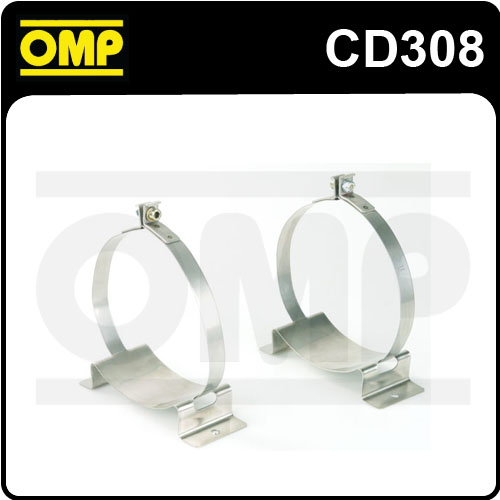 CD/308 OMP 160mm FIRE EXTINGUISHER ALUMINIUM FIXING BRACKETS 160mm FIXED BOTTLES