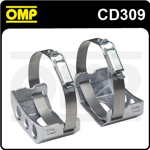 CD/309 OMP 132mm HANDHELD FIRE EXTINGUISHER SUPPORT BRACKETS for 132mm BOTTLE