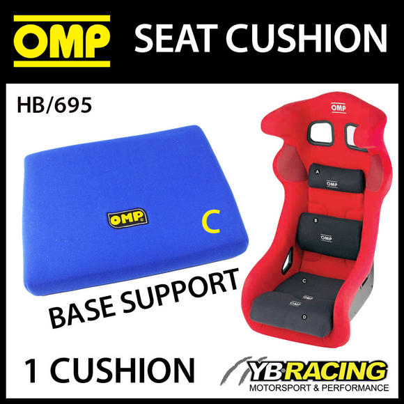 HB/695 OMP RACING BUCKET SEAT CUSHION (REMOVABLE) IMPROVE COMFORT & SUPPORT