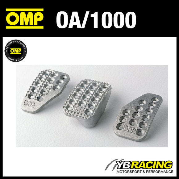 OA/1000 OMP RACING ALUMINIUM PEDAL SET - SANDBLASTED - FOR RACE RALLY CARS!